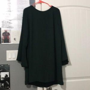 Green dress worn twice